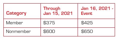 Registration pricing